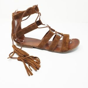 Topshop Arcadia Suede Lace Up Gladiator Sandals